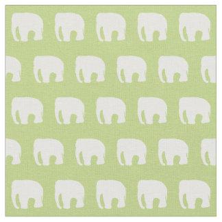 Pastel Green Nursery Fabric, Elephant Fabric