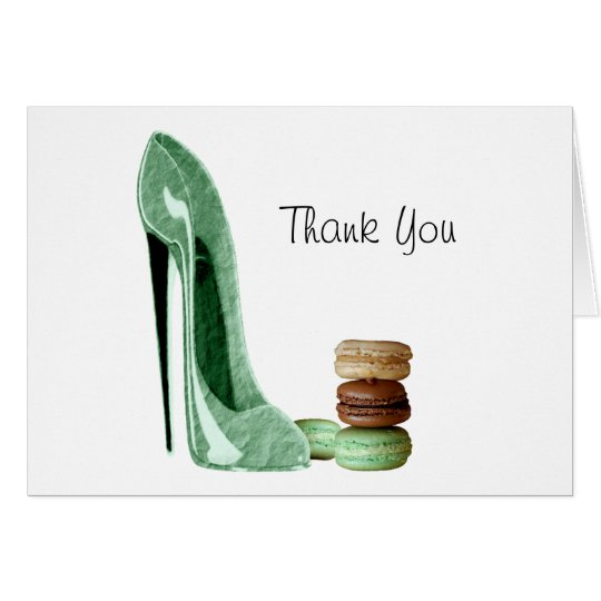 Pastel Green Stiletto and French Macaroons Art Card