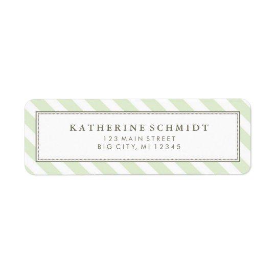 Pastel Green Stripes - Return Address Labels
