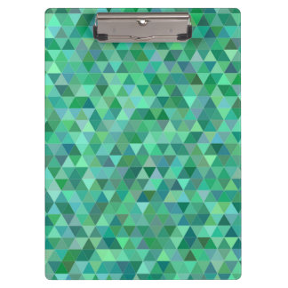 Pastel green triangles clipboard