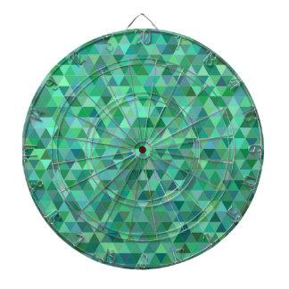 Pastel green triangles dartboard