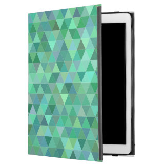 "Pastel green triangles iPad pro 12.9"" case"
