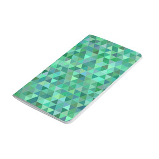 Pastel green triangles journal