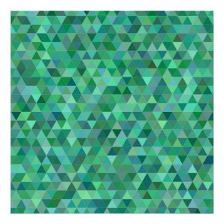 Pastel green triangles poster