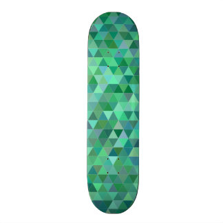 Pastel green triangles skateboard