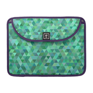 Pastel green triangles sleeve for MacBooks