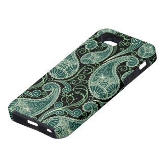 Pastel Green Vintage Paisley Pattern Case For The iPhone 5