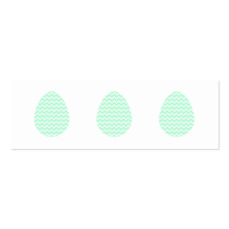 Pastel Green Zigzag Easter Egg. Pack Of Skinny Business Cards