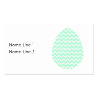 Pastel Green Zigzag Easter Egg. Pack Of Standard Business Cards