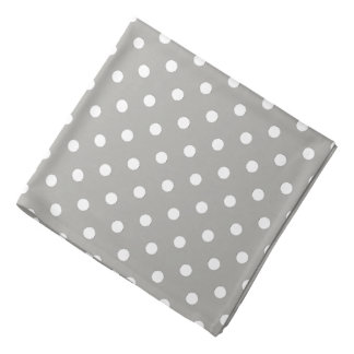 Pastel Grey And White Polka Dot Pattern Kerchief