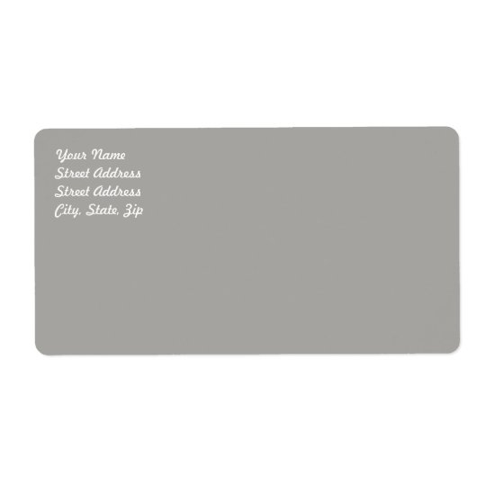 Pastel Grey Shipping Label