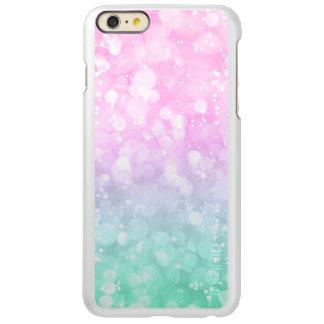 Pastel Grren & Pink Bokeh Glitter