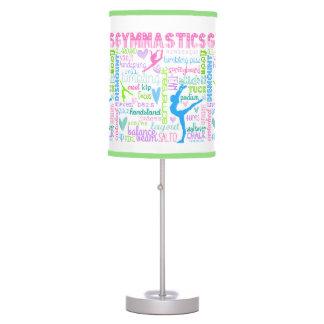 Pastel Gymnastics Words Typography Table Lamp