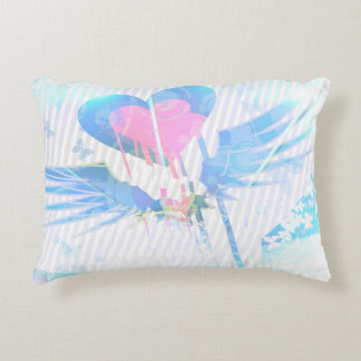 Pastel heart and design accent pillow