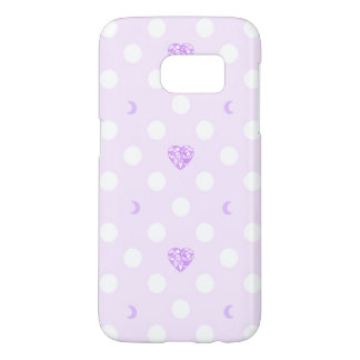 Pastel Heart Crystal and Moon Samsung Galaxy S7 Case