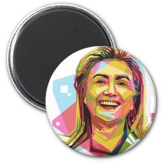 pastel Hillary Clinton 2 Inch Round Magnet