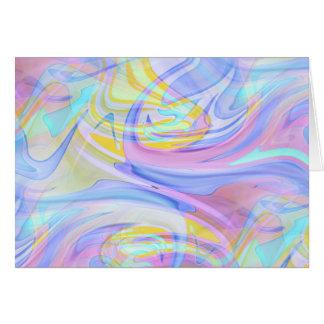 pastel hologram card