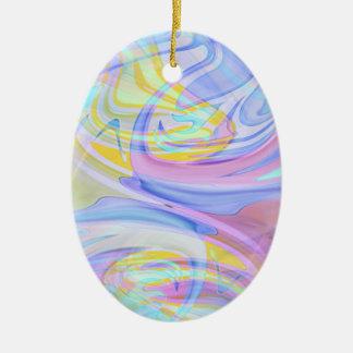 pastel hologram ceramic ornament