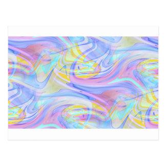 pastel hologram postcard