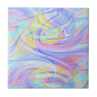pastel hologram tile