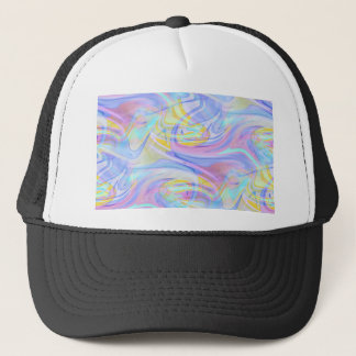 pastel hologram trucker hat