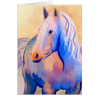 Pastel Horse Card