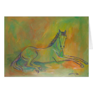 Pastel Horse Greeting or Note Card
