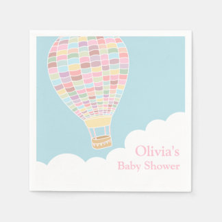 Pastel Hot Air Balloon Baby Shower Supplies Paper Napkins