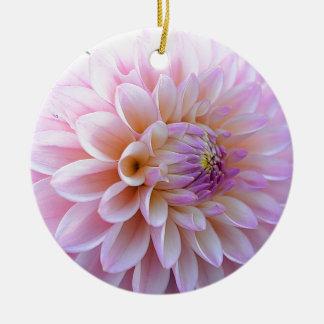 Pastel Hued Dahlia Ceramic Ornament