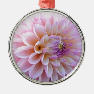 Pastel Hued Dahlia Metal Ornament