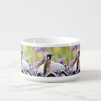 Pastel Hummer on Water Fountain Chili Bowl