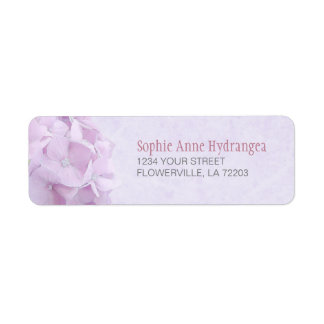Pastel Hydrangea FlowersLabels Return Address Label