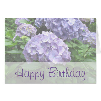 Pastel Hydrangeas at Trebah Birthday Card