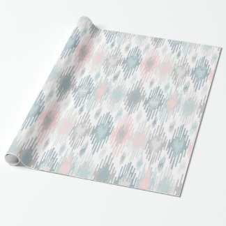 Pastel Ikat Pattern Wrapping Paper