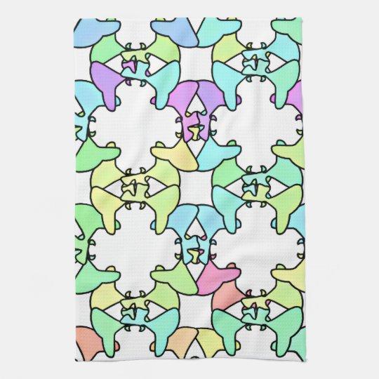"Pastel Kaleidoscope Kitchen/Bath Towel 16"" x 24"""