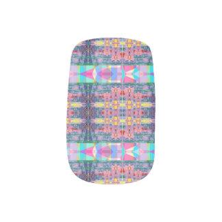 Pastel Kaleidoscope Minx Nail Art