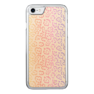 Pastel Kawaii Leopard Rainbow Animal Print Carved iPhone 8/7 Case