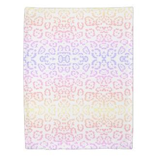 Pastel Kawaii Leopard Rainbow Animal Print Duvet Cover
