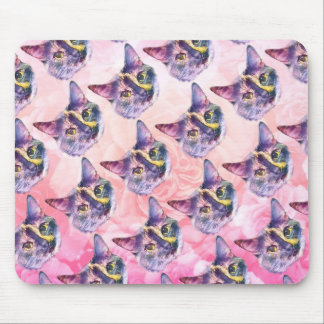 Pastel Kitty Cat Mouse Pad