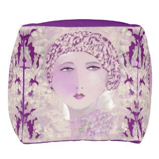 Pastel Lady Pouf 4 Home on Lavender/White/Purple