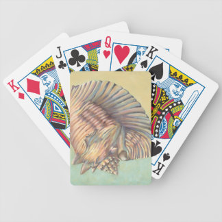 Pastel Large Conch Shell Bicycle Playing Cards
