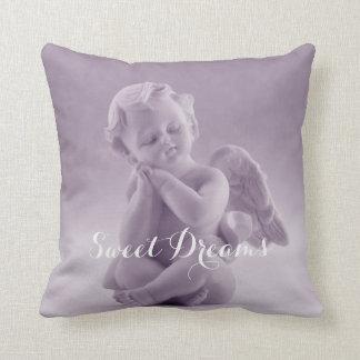 Pastel Lavender Cherub Throw Pillow