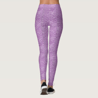 Pastel Lavender Grape Pop Bubble Wrap Purple Leggings