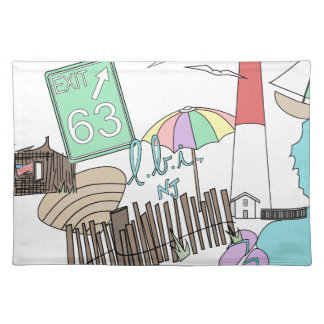 Pastel LBI Love Collage Cloth Placemat