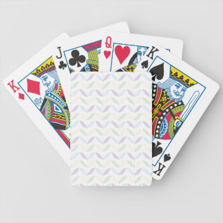 Pastel Leafs Bicycle Playing Cards