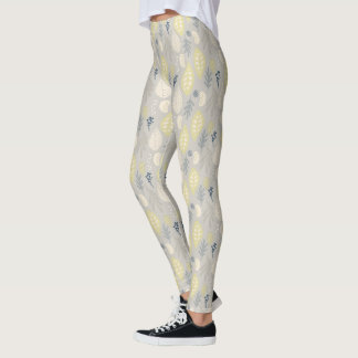 Pastel Leaves Leggings