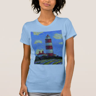 Pastel Lighthouse and Lavender Fields T-Shirt