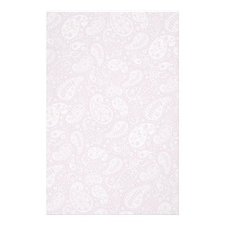 Pastel Lilac Spring Paisely Stationery Design