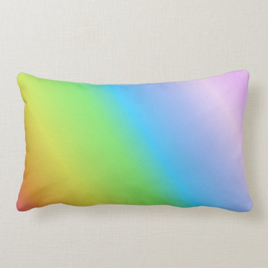 Pastel Linear Rainbow Lumbar Pillow