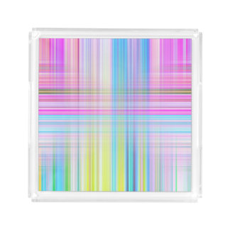 Pastel Lines Acrylic Tray
